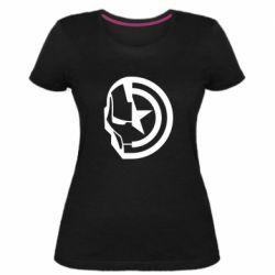 Жіноча стрейчева футболка Iron Man and Captain America