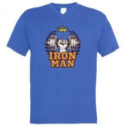 Чоловіча футболка з V-подібним вирізом Iron man and sports