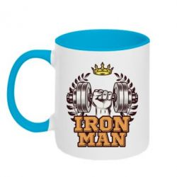Кружка двоколірна 320ml Iron man and sports