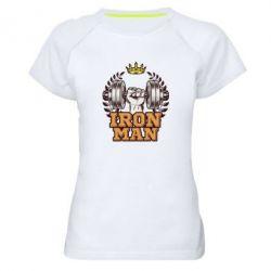 Жіноча спортивна футболка Iron man and sports