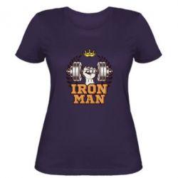 Жіноча футболка Iron man and sports