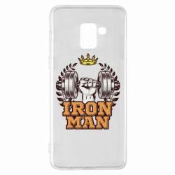 Чохол для Samsung A8+ 2018 Iron man and sports