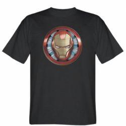 Чоловіча футболка Iron man helmet wood texture