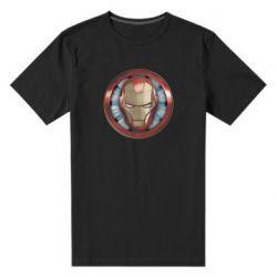 Чоловіча стрейчева футболка Iron man helmet wood texture