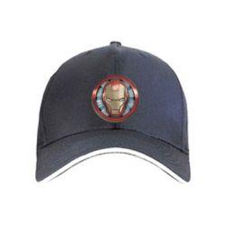 Кепка Iron man helmet wood texture