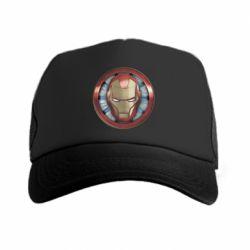 Кепка-тракер Iron man helmet wood texture