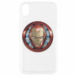 Чохол для iPhone XR Iron man helmet wood texture