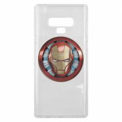 Чохол для Samsung Note 9 Iron man helmet wood texture