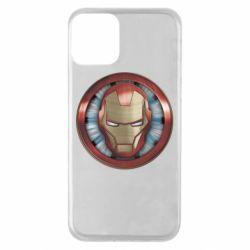Чохол для iPhone 11 Iron man helmet wood texture