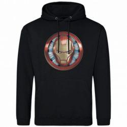 Чоловіча толстовка Iron man helmet wood texture