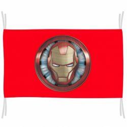 Прапор Iron man helmet wood texture