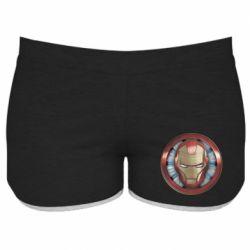 Жіночі шорти Iron man helmet wood texture
