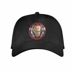 Дитяча кепка Iron man helmet wood texture