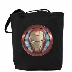 Сумка Iron man helmet wood texture