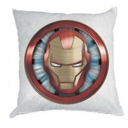 Подушка Iron man helmet wood texture