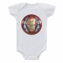 Дитячий бодік Iron man helmet wood texture