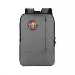 Рюкзак для ноутбука Iron man helmet wood texture