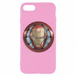 Чохол для iPhone 7 Iron man helmet wood texture