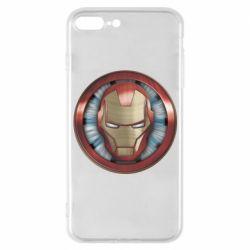 Чохол для iPhone 7 Plus Iron man helmet wood texture