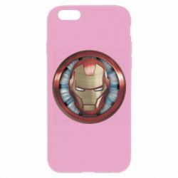Чохол для iPhone 6/6S Iron man helmet wood texture
