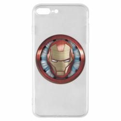 Чохол для iPhone 8 Plus Iron man helmet wood texture