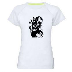 Жіноча спортивна футболка Iron man ready for battle