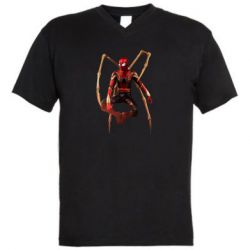 Чоловіча футболка з V-подібним вирізом Iron man spider