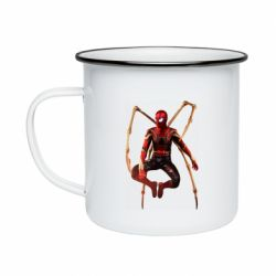 Кружка емальована Iron man spider