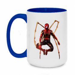 Кружка двоколірна 420ml Iron man spider