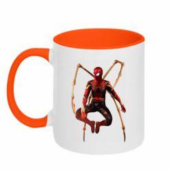 Кружка двоколірна 320ml Iron man spider