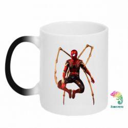 Кружка-хамелеон Iron man spider