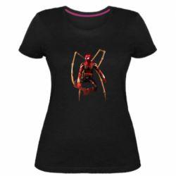 Жіноча стрейчева футболка Iron man spider