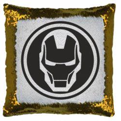 Подушка-хамелеон Iron man symbol