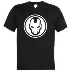Чоловіча футболка з V-подібним вирізом Iron man symbol
