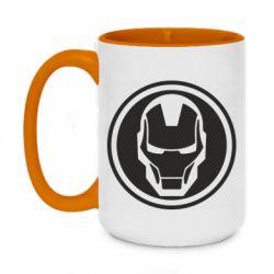 Кружка двоколірна 420ml Iron man symbol