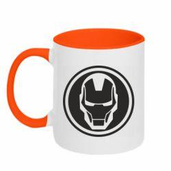 Кружка двоколірна 320ml Iron man symbol