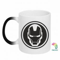 Кружка-хамелеон Iron man symbol