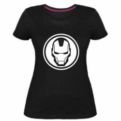 Жіноча стрейчева футболка Iron man symbol
