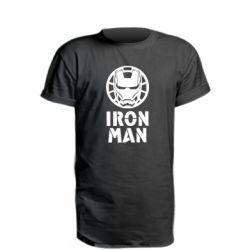 Подовжена футболка Iron man text