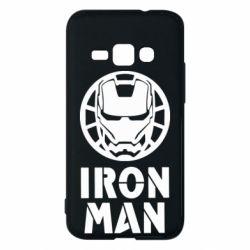 Чохол для Samsung J1 2016 Iron man text