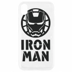 Чохол для iPhone XR Iron man text