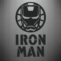 Наклейка Iron man text