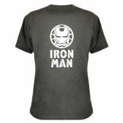 Камуфляжна футболка Iron man text