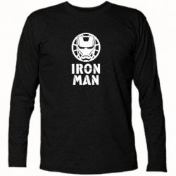 Футболка з довгим рукавом Iron man text
