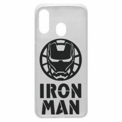 Чохол для Samsung A40 Iron man text