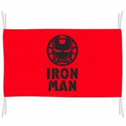 Прапор Iron man text