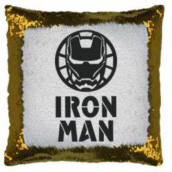 Подушка-хамелеон Iron man text