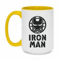 Кружка двоколірна 420ml Iron man text