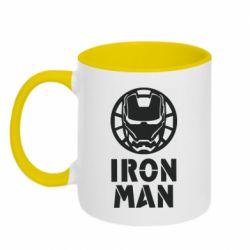 Кружка двоколірна 320ml Iron man text