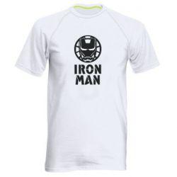 Чоловіча спортивна футболка Iron man text